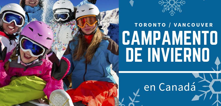 Campamento de invierno en Canadá